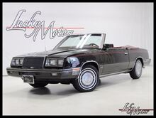 1984 Chrysler Lebaron Mark Cross Turbo Convertible Low Miles Clean Carfax! Villa Park IL