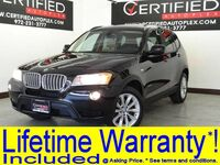 BMW X3 xDrive28i DRIVER ASSIST PKG NAVIGATION PANORAMA LEATHER HEATED SEATS REAR CAMERA 2014