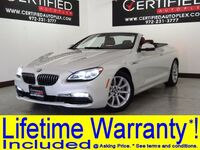 BMW 640i CONVERTIBLE NAVIGATION LEATHER HEATED SEATS REAR CAMERA PARK ASSIST REAR PARKING AID 2016