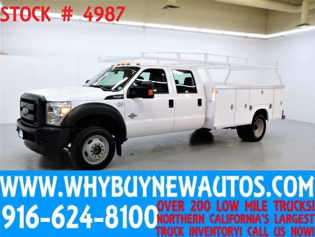 2015 Ford F550 ~ 4x4 ~ Diesel ~ Crew Cab ~ 11ft Utility ~ Only 25K Miles! Rocklin CA