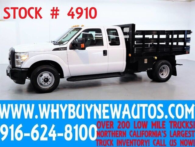2012 Ford F350 ~ 8ft Stake Bed ~ Extended Cab ~ Only 13K Miles! Rocklin CA