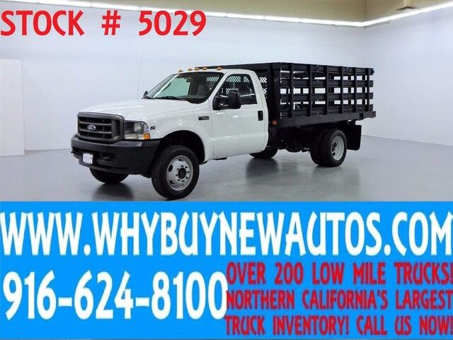 2004 Ford F550 ~ 4x4 ~ 12ft Stake Bed ~ Only 23K Miles! Rocklin CA