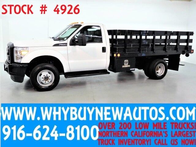 2011 Ford F350 ~ 4x4 ~ 12ft Stake Bed ~ Only 62K Miles Rocklin CA
