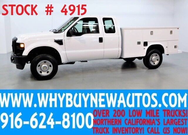 2009 Ford F350 ~ 4x4 ~ Utility ~ Extended Cab ~ 6-Speed Manual ~ Only 53K Miles! Rocklin CA