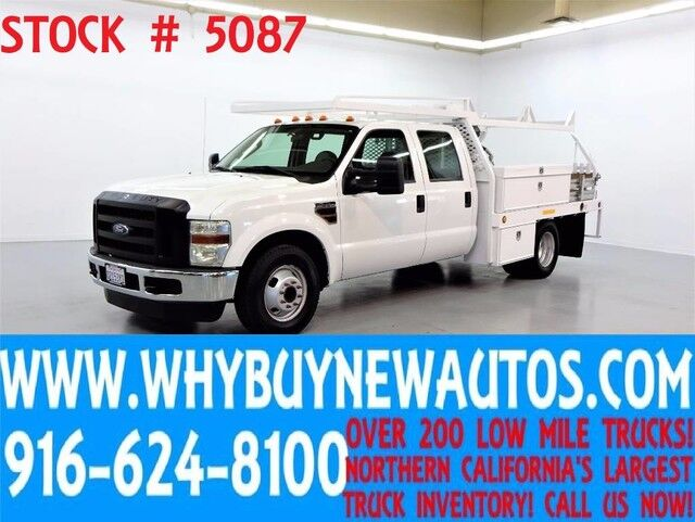 2008 Ford F350 ~ 10ft Contractor Bed ~ Diesel ~ Crew Cab ~ Only 44K Miles! Rocklin CA