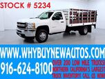 2013 Chevrolet Silverado 3500HD ~ 12ft Stake Bed ~ Liftgate ~ Only 8K Miles!