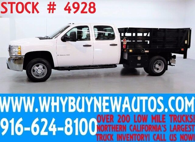 2008 Chevrolet Silverado 3500HD ~ 4x4 ~ Lift Gate ~ Crew Cab ~ 8ft Stake Bed ~ Only 52K Miles! Rocklin CA