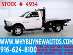 2016 Dodge Ram 3500 ~ 9ft Flat Bed ~ Diesel ~ Dually ~ Only 103 Miles!