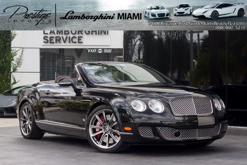 2011 Bentley Continental GT Speed North Miami Beach FL