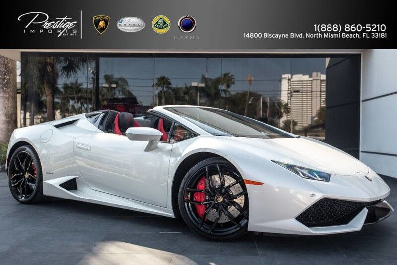 2016 Lamborghini Huracan LP 610-4 Spyder North Miami Beach FL