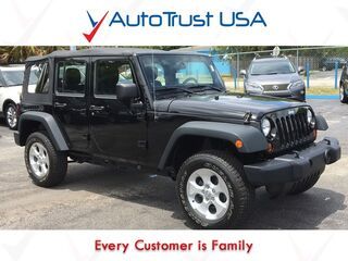 Jeep Wrangler Unlimited Sport 1 Owner Clean Carfax Manual Trans 4WD Soft Top 2012