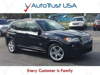 BMW X3 xDrive28i 1 Owner Clean Carfax M Sport Nav Backup Cam Pano Roof 2014