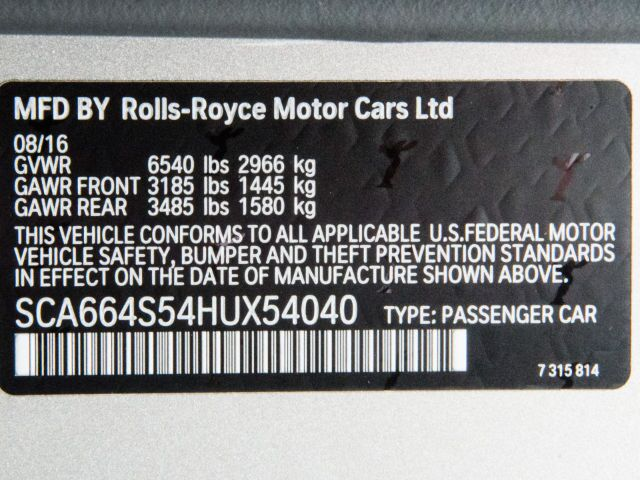 2017 Rolls-Royce Ghost Drivers Assistance 1 Los Gatos CA