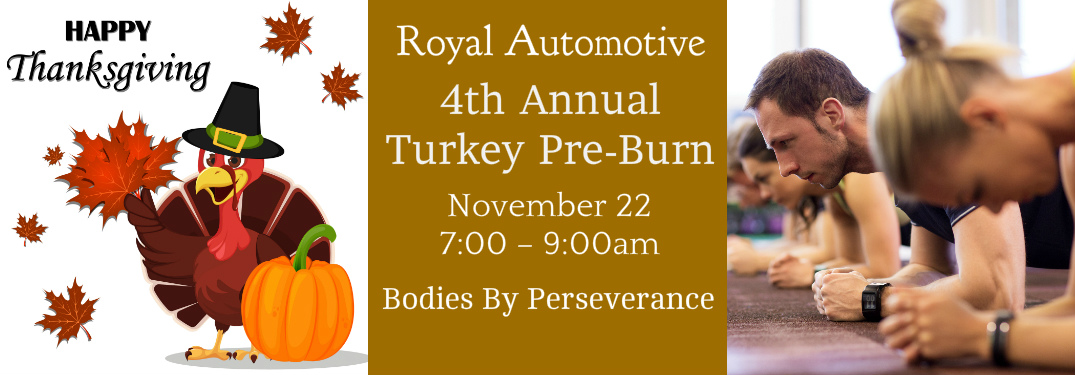 Have a Great Workout on Thanksgiving at Our 4th Annual Turkey Pre-Burn!