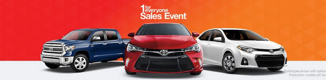 2015 Toyota 1 For Everyone Sales Event at Gale Toyota