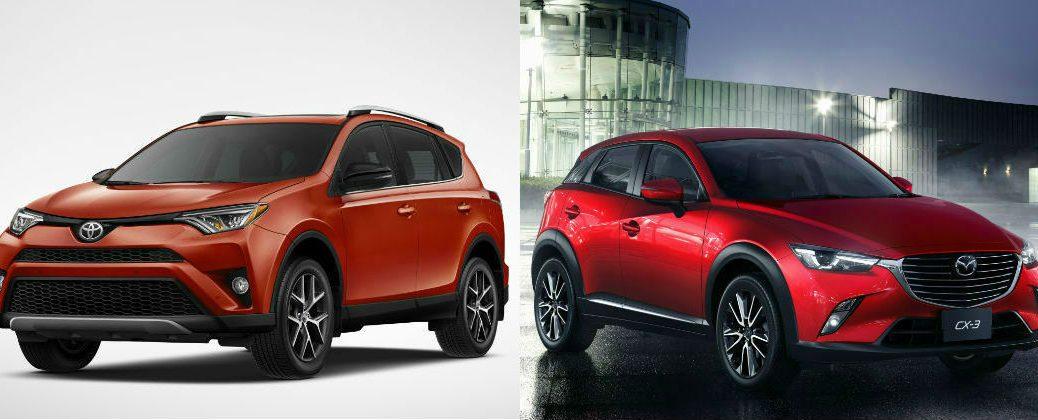 Differences Between the 2016 Toyota RAV4 and 2016 Mazda CX-3 at Gale Toyota-Enfield CT-Hartford CT-Springfield MA-New Toyota Dealer-Toyota Model Comparisons-New Toyota Crossover