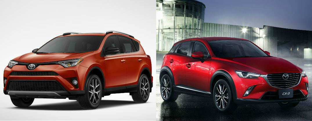 Differences Between The 2016 Toyota Rav4 And Mazda Cx 3 At Gale