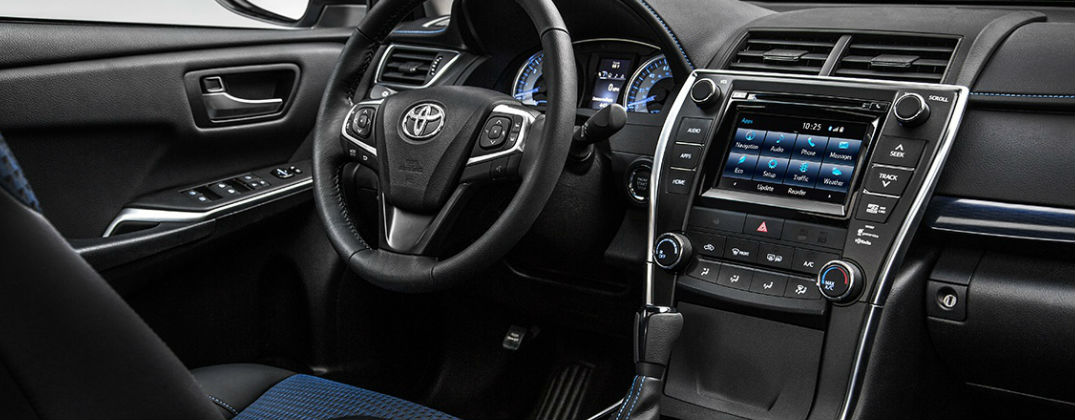 How Much Will Toyota Camry and Corolla Special Editions Cost? at Gale Toyota-Enfield CT-Hartford CT-Springfield MA-NEw Toyota Dealer-2016 Toyota Camry Special Edition Blue Accent Interior