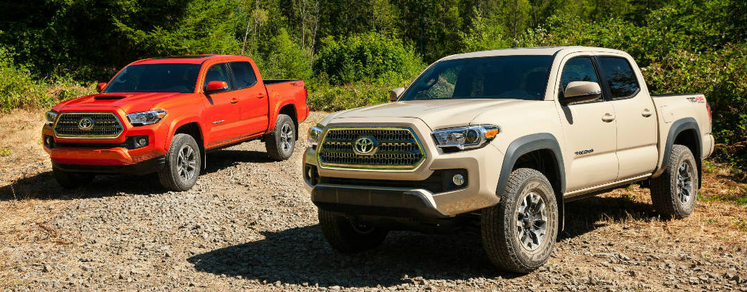 New 2016 Toyota Tacoma TRD Models White and Orange Exterior at Gale Toyota-Enfield CT-hartford CT-Springfield MA-New Toyota Dealer