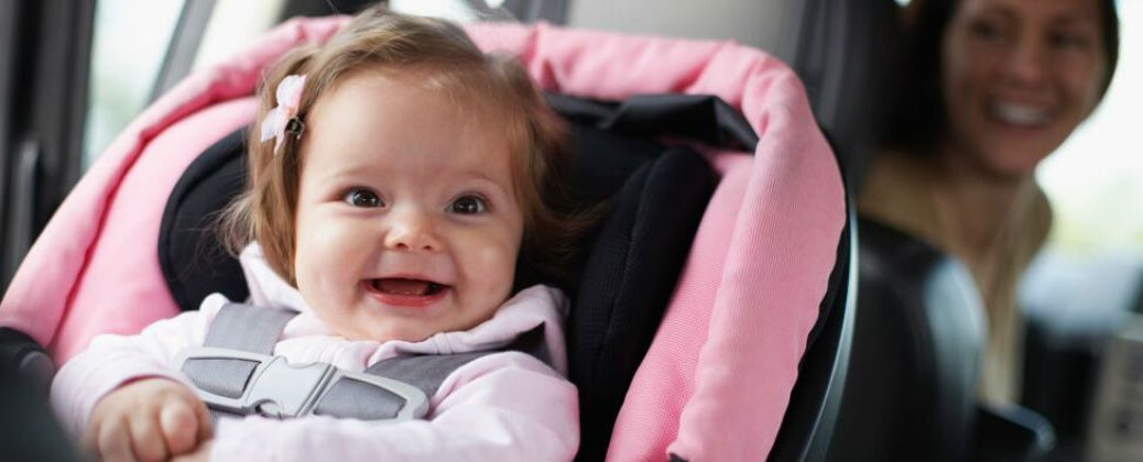 Child Car Seat Safety Myths Busted at Gale Toyota=Enfield CT-Little Girl in a Car Seat