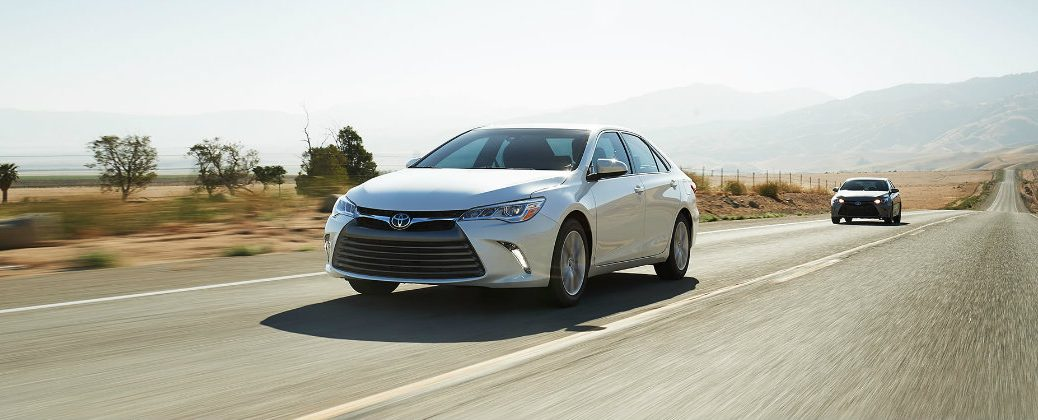 Toyota Brand Tops Consumer Reports Reliability Survey at Gale Toyota-Enfield CT=White Toyota Camry Exterior