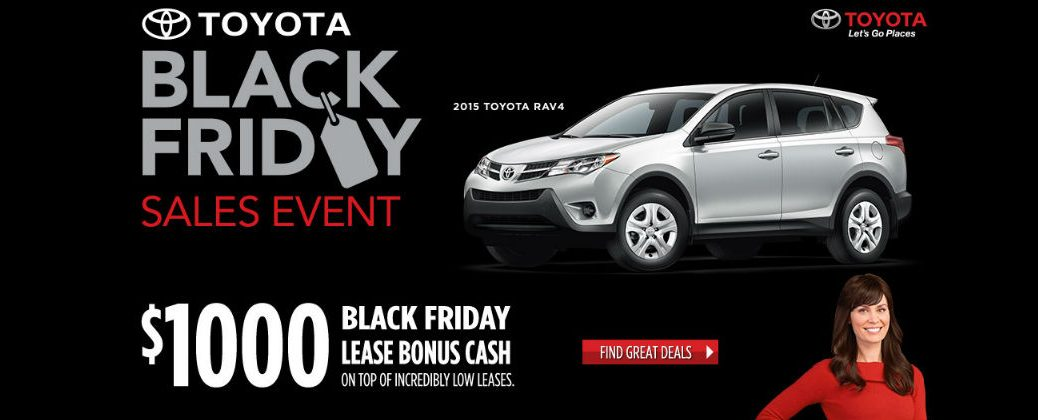 Best Toyota Black Friday Car Sales Enfield CT at Gale Toyota-2015 Toyota RAV4 Black Friday Specials Banner