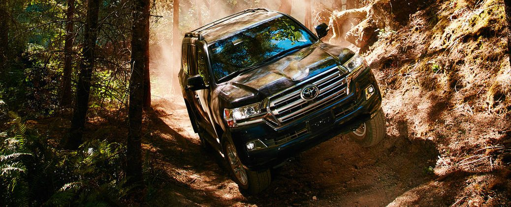 What Are Toyota Land Cruiser Off-Road Features? at Gale Toyota-Enfield CT-2016 Toyota Land Cruiser Navigating Rocky Terrain