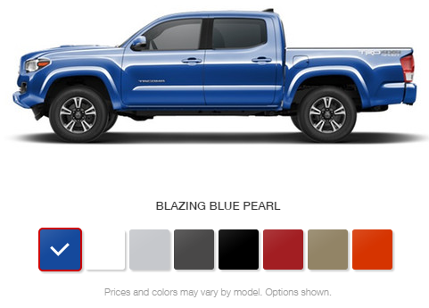 Toyota Tacoma Colors >> What Are The Color Options For The 2016 Toyota Tacoma