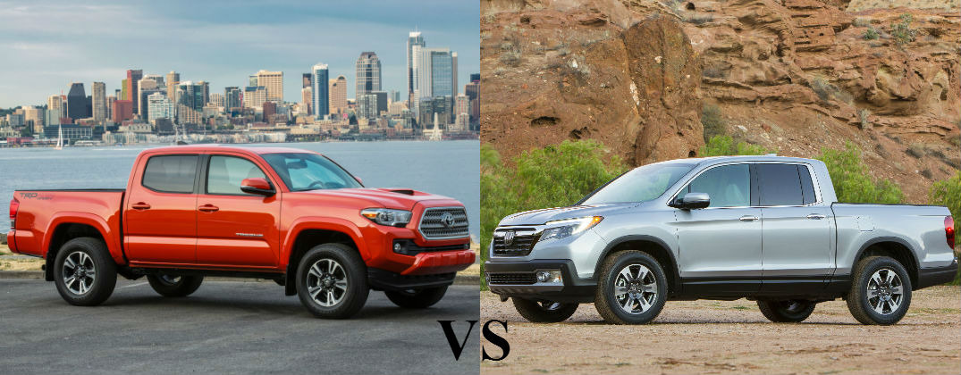2016 Toyota Tacoma Vs 2017 Honda Ridgeline At Gale Enfield Ct Orange
