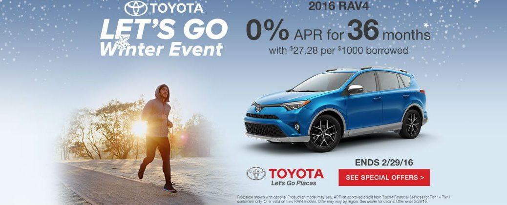 2016 Toyota Let's Go Winter Sales Event Enfield CT at Gale Toyota-New 2016 Toyota RAV4 Sales and Incentives
