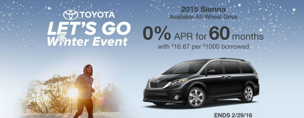 2016 Toyota Let's Go Winter Sales Event Enfield CT at Gale Toyota-Toyota Sienna Lets Go Winter Sales and Incentives