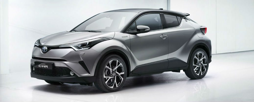 Toyota C-HR Makes Debut at Geneva Motor Show at Gale Toyota-Enfield CT-Silver Toyota C-HR Front and Side Exterior Design