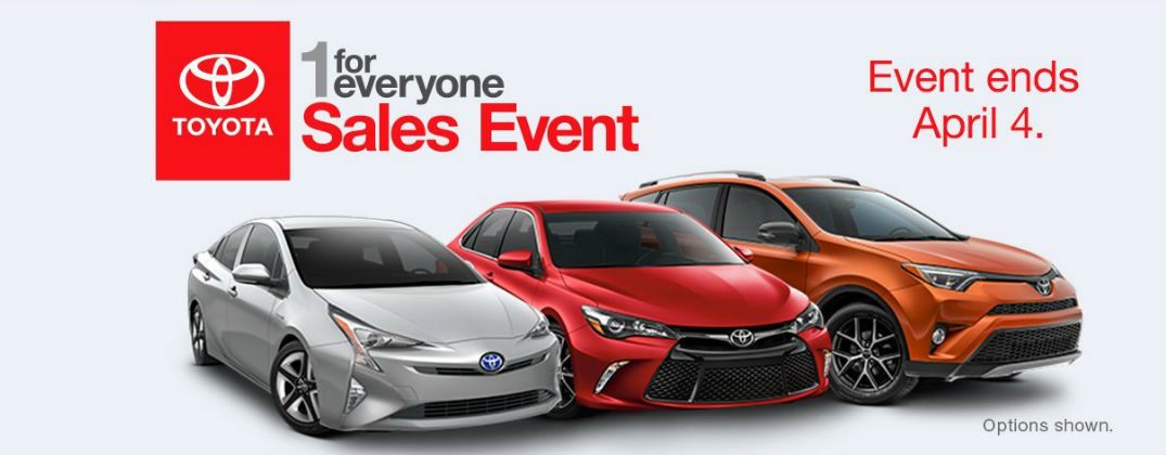 Annual Toyota 1 for Everyone Sales Event Arrives at Gale Toyota