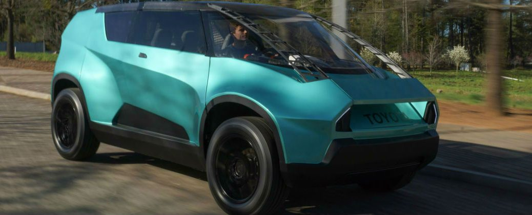 Teal Toyota uBox Exterior Side Profile and Front End Design-Gale Toyota
