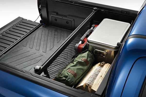 Blue 2016 Toyota Tacoma with Cargo Divider and Cargo