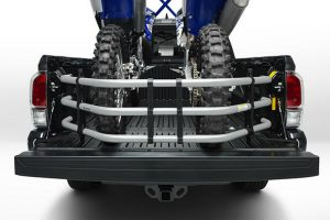 2016 Toyota Tacoma Bed Extender Accessory with Two Dirt Bikes