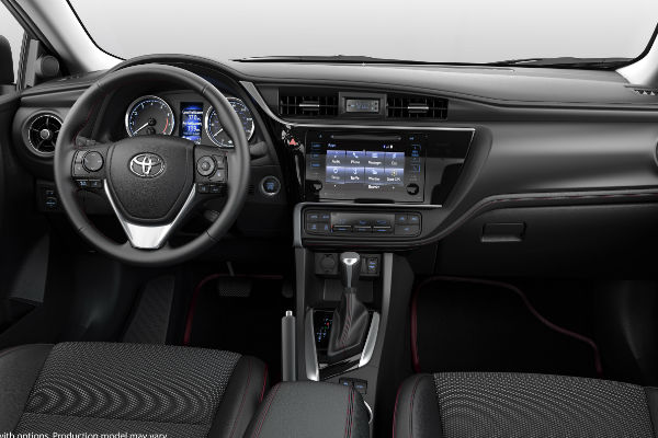 2017 Toyota Corolla 50th Anniversary Edition Interior with Toyota Entune Touchscreen