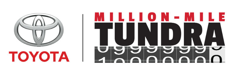 Million-Mile Toyota Tundra Banner and Logo