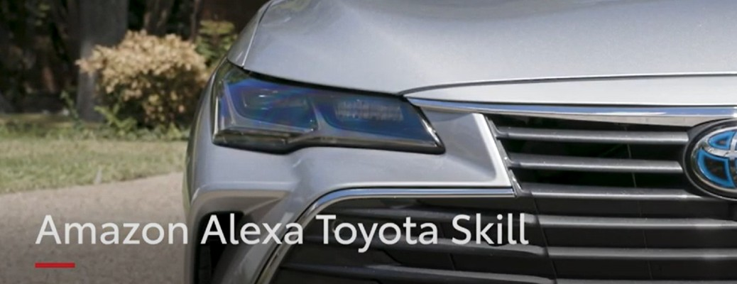 Amazon Alexa Toyota Skill title and silver Toyota sedan