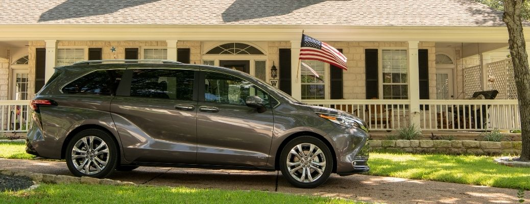 2021 Toyota Sienna parked outside of a house