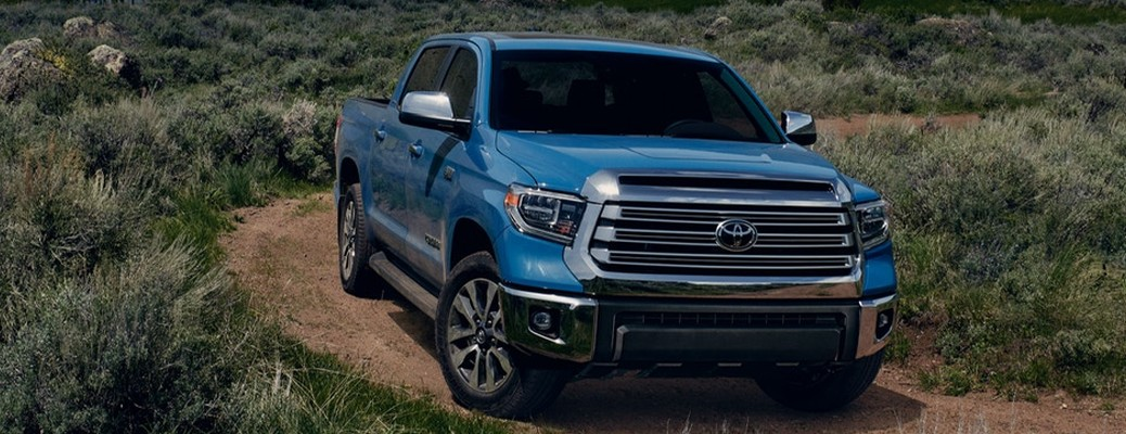 2021 Toyota Tundra driving through grassy terrain
