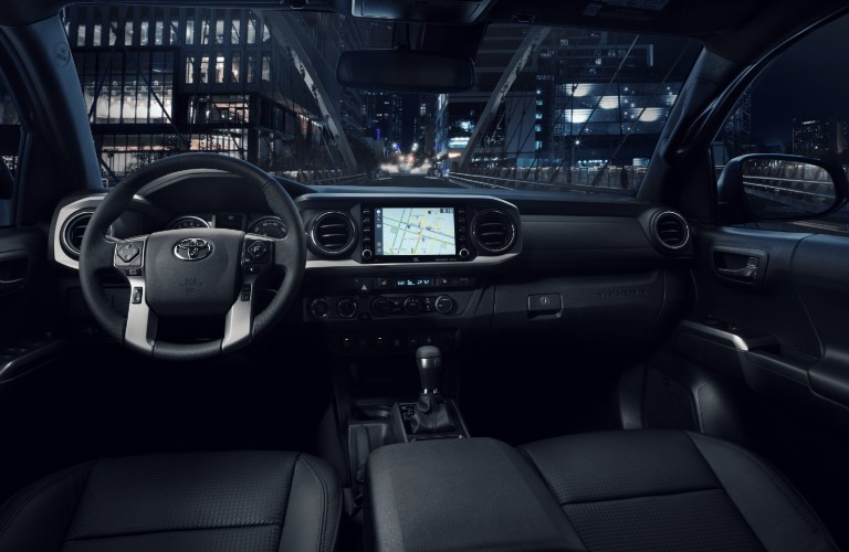 Interior view of the 2021 Toyota Tacoma