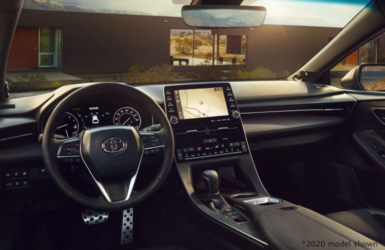 Interior view of the 2021 Toyota Avalon