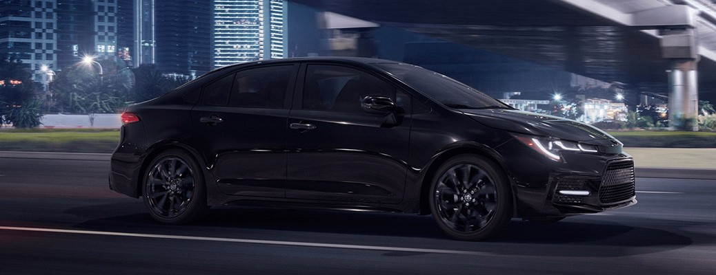 Side view of the 2021 Toyota Corolla