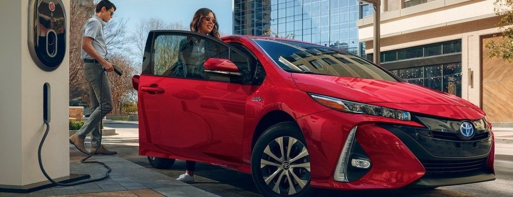2021 Toyota Prius Prime at charging station