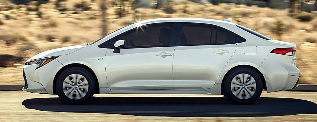 Side view of the 2021 Toyota Corolla Hybrid