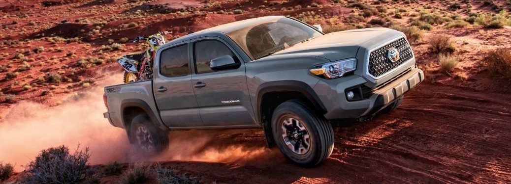 2018 Toyota Tacoma exterior front fascia passenger side on dirt
