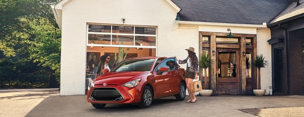 2020 Toyota Yaris parked outside at a house