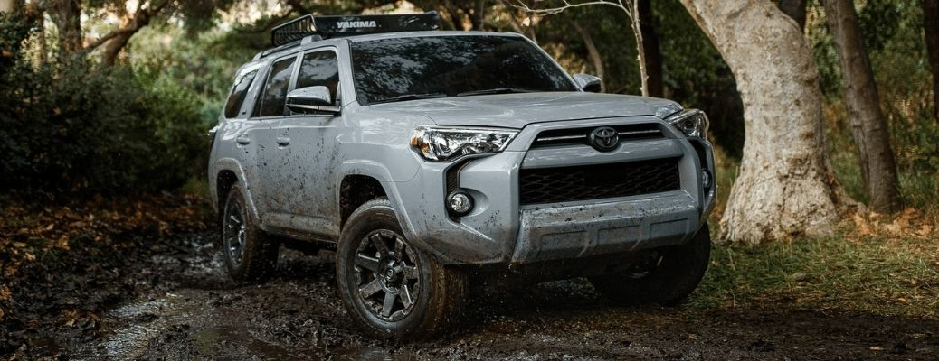 2021 Toyota 4Runner driving through the forest