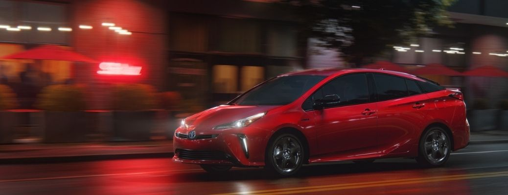 2021 Toyota Prius driving on a road